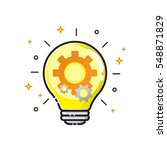 light bulb gears and cogs icon... | Shutterstock .eps vector #548871829