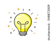 light bulb icon design  idea... | Shutterstock .eps vector #548872009