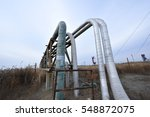 the pipe and valve oil fields  | Shutterstock . vector #548872075