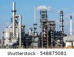 petrochemical plant  oil... | Shutterstock . vector #548875081