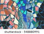 mosaic background. glass mosaic.... | Shutterstock . vector #548880991