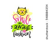 vector poster with phrase  cat... | Shutterstock .eps vector #548884354