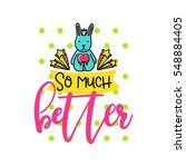 vector poster with phrase ... | Shutterstock .eps vector #548884405