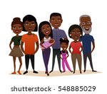 big happy black family isolated ... | Shutterstock .eps vector #548885029