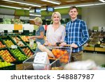 positive smiling customers... | Shutterstock . vector #548887987