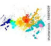 splash of water colors on a... | Shutterstock . vector #54889039