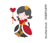 cute queen of hearts from alice ... | Shutterstock .eps vector #548891899
