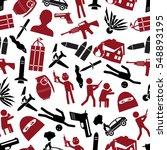 terrorism theme set of simple...   Shutterstock .eps vector #548893195