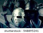 Old Medieval Helmets  Detail O...