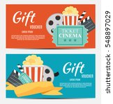 gift voucher template for your... | Shutterstock .eps vector #548897029