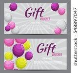 gift voucher template for your... | Shutterstock .eps vector #548897047
