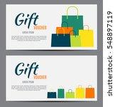 gift voucher template for your... | Shutterstock .eps vector #548897119