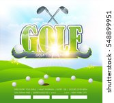 golf poster event info postcard