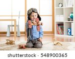 child boy pretending to be... | Shutterstock . vector #548900365