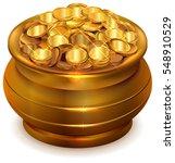 Full Ceramic Pot With Gold...