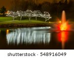 view of christmas decorated... | Shutterstock . vector #548916049