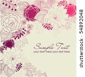 stylish floral background | Shutterstock .eps vector #54892048