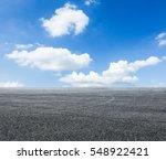asphalt road and sky | Shutterstock . vector #548922421