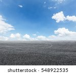asphalt road and sky | Shutterstock . vector #548922535