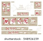 valentines day sale banners... | Shutterstock .eps vector #548926159