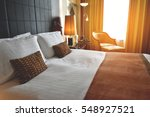 Stock photo comfort bedroom in luxury style 548927521