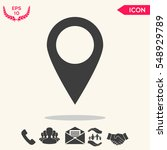 map pointer icon   Shutterstock .eps vector #548929789