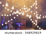 hanging decorative lights for a ... | Shutterstock . vector #548929819