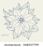 poinsettia isolated  christmas...   Shutterstock .eps vector #548937799