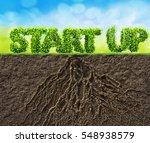start up business 3d... | Shutterstock . vector #548938579