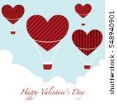 happy valentine's day background | Shutterstock .eps vector #548940901