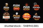 pizza logo  label  element.... | Shutterstock .eps vector #548941381