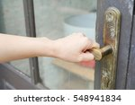 a asian women's hand to opening ...   Shutterstock . vector #548941834