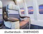 airplane cabin interior view | Shutterstock . vector #548944045