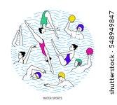 water sport vector illustration....   Shutterstock .eps vector #548949847