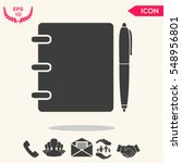notebook  address  phone book... | Shutterstock .eps vector #548956801