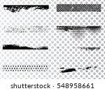 grunge paint stripe . vector... | Shutterstock .eps vector #548958661