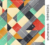 vintage square seamless pattern ... | Shutterstock .eps vector #548960341