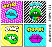 set of vector cards and banners ...   Shutterstock .eps vector #548964931