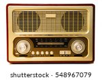 old radio isolated on white...   Shutterstock . vector #548967079