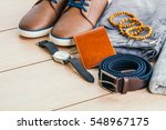 beautiful men fashion with... | Shutterstock . vector #548967175