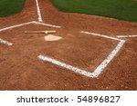 Baseball   Bat Near Home Plate