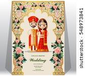 indian wedding invitation card... | Shutterstock .eps vector #548973841