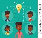 african american businessmen... | Shutterstock .eps vector #548978071
