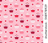 valentine seamless pattern with ... | Shutterstock .eps vector #548978929