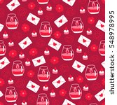 valentine seamless pattern with ... | Shutterstock .eps vector #548978995