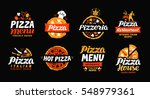 pizza logo. collection labels... | Shutterstock .eps vector #548979361