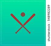 baseball icon illustration. red ... | Shutterstock . vector #548982289