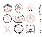 vector illustration of happy... | Shutterstock .eps vector #548989165