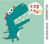 dinosaur vector illustration.t ... | Shutterstock .eps vector #548989744