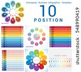 set vector templates... | Shutterstock .eps vector #548990419
